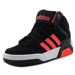 Adidas BB9TIS Mid K Youth Round Toe Synthetic Black Basketball Shoe