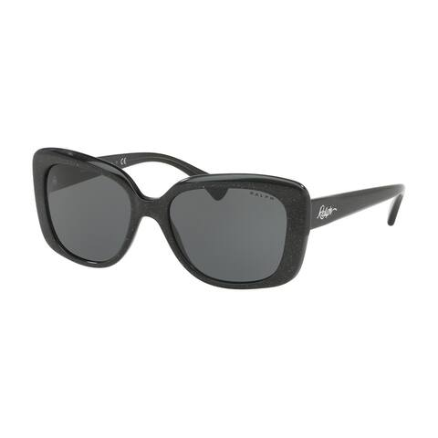 Ralph RA5241 568187 55 Shiny Black Glitter Woman Pillow Sunglasses