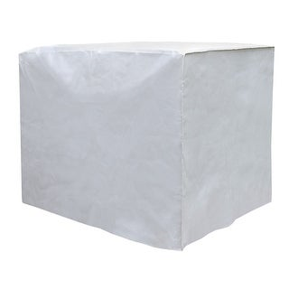 Outdoor Air Conditioner Unit Cover - Square Exterior A/C Winter Weather Protector - Gray - 34 in. x 34 in. x 30 in.