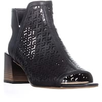 Vince Camuto Sternat Perforated Block Heel Boots, Black