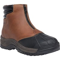 Propet Men's Blizzard Mid Zip Up Boot Brown/Black Leather