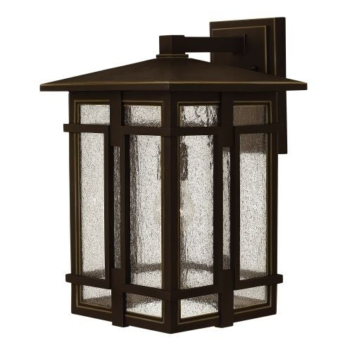 "Hinkley Lighting 1965-LED 1 Light 11"" Wide LED Lantern Wall Sconce with Clear Seedy Glass Shade from the Tucker Collection"