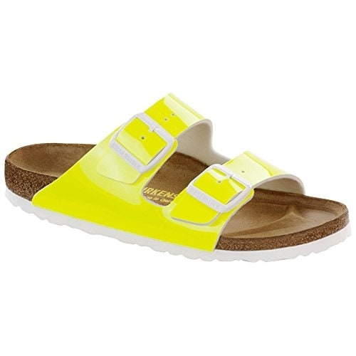 Birkenstock Women's Arizona Neon Yellow Patent Birko-FlorA? Sandal