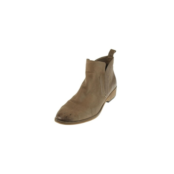 Dolce Vita Womens Tessey Ankle Boots Leather Distressed