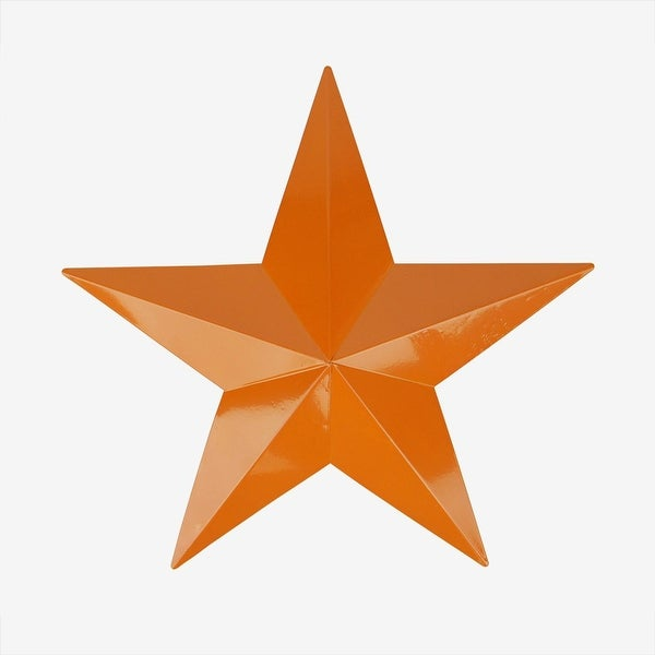 "15"" Burnt Orange Country Rustic Star Indoor/Outdoor Wall Decoration"