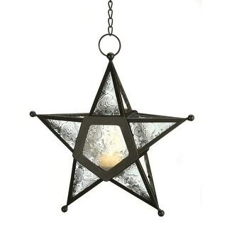 Clear Glass Star Lantern