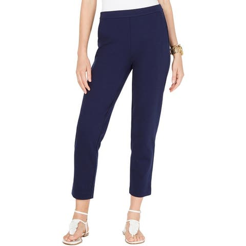 MICHAEL Michael Kors Womens Trouser Pants Cropped High Rise - True Navy