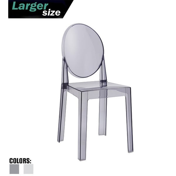 Modern Contemporary Urban Design Kitchen Dining Side Chair: Shop 2xhome Smoke Plastic Chair Side Chair Armless Dining