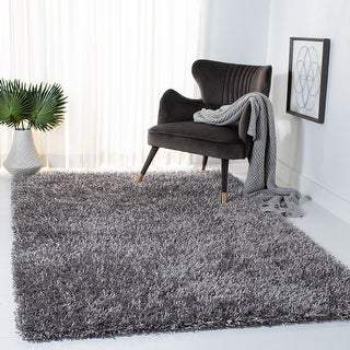 Link to Safavieh Handmade New Orleans Shag Triin Solid Polyester Rug Similar Items in Shag Rugs