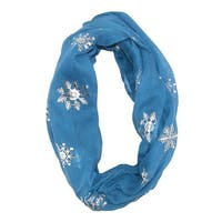 David & Young Women's Snowflake Holiday Infinity Loop Scarf - One size