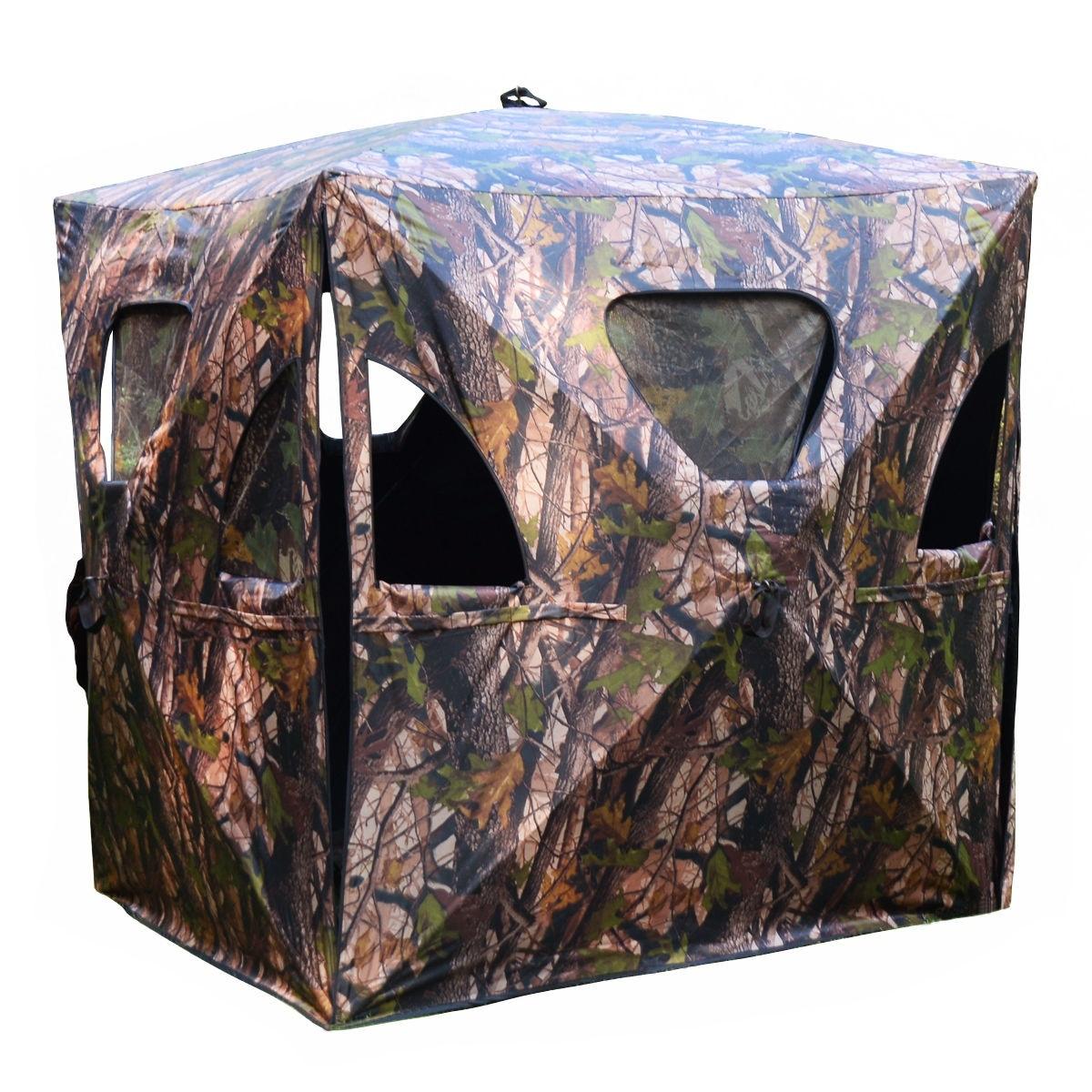 Ground Hunting Blind Portable Pop up Camo Hunter Mesh thumbnail