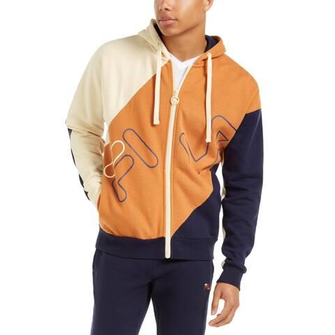 Fila Mens Lazaro Hoodie Sweatshirt Fitness - Sand/Peacoat/Bran - S