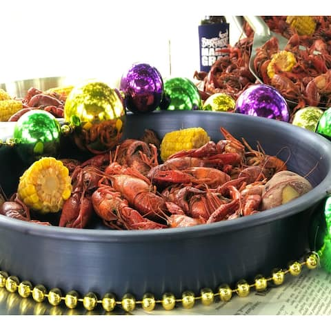 Bayou Classic® 300-412 - 14-in Black and Gold Serving Trays - 4-pk