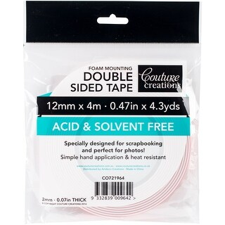- Couture Creations Foam Mounting Tape 12Mmx4m