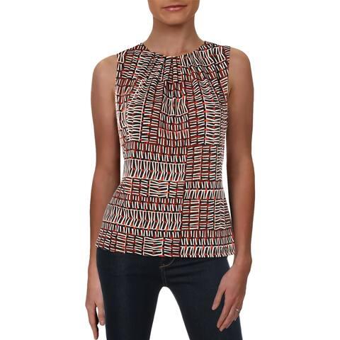 Calvin Klein Womens Shell Printed Pleated