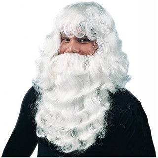 Deluxe Santa Wig & Beard Adult Costume Accessory