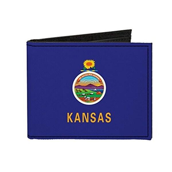 Buckle-Down Canvas Bi-fold Wallet - Kansas Flag Accessory