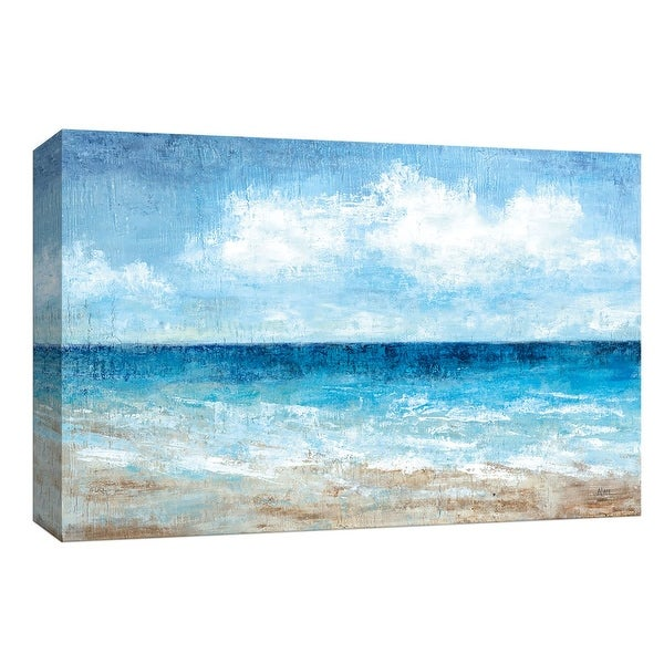 """PTM Images 9-147981 PTM Canvas Collection 8"""" x 10"""" - """"Fair Weather"""" Giclee Beaches Art Print on Canvas"""