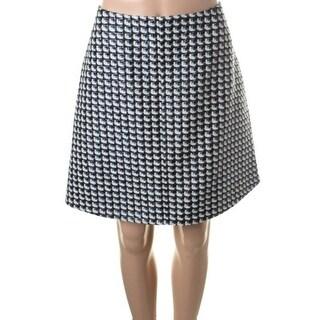 Carven Womens Metallic Tweed A-Line Skirt