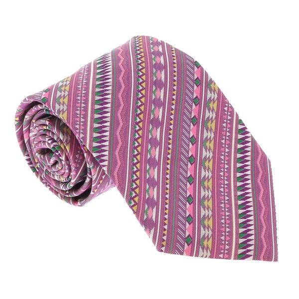 Missoni U5326 Pink/Purple Geometric 100% Silk Tie - 60-3