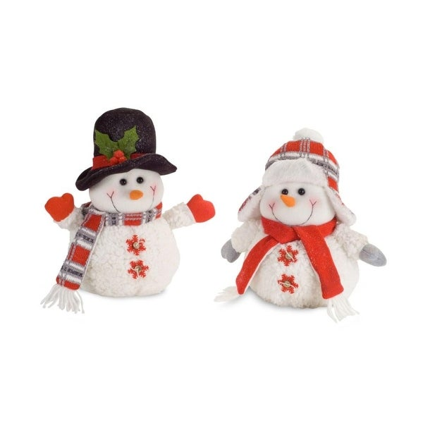 Pack of 4 Happy Winter Snowmen Table Top Decoration 11.5""