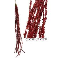 Casino Royale Red Beaded Sequin Tassel Christmas Ornament 15""