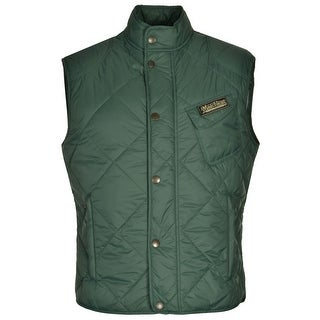 Matchless Grove Gilet Slim Fit Lightweight Quilted Vest British Green X-Large