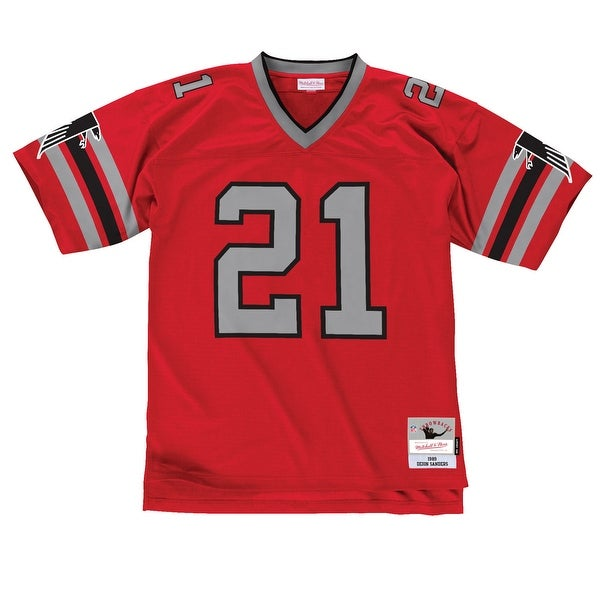 4f5f3ac422d2c Shop Atlanta Falcons Deion Sanders #21 Legacy Jersey, Red - Free Shipping  Today - Overstock - 25447693