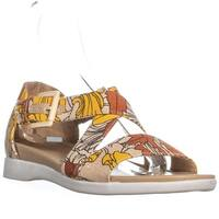 naturalizer Elliott Ankle Strap Flat Sandals , Papaya