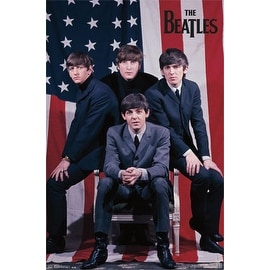 ''The Beatles: US Flag'' by Anon Music Art Print (34 x 22.375 in.)