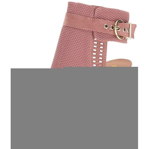 Qupid Women's Everly-22 Heeled Sandal Mauve Size 5.5