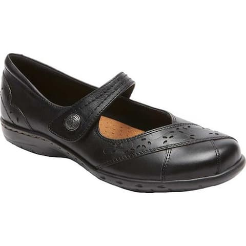 Rockport Women's Cobb Hill Petra Mary Jane Black Leather
