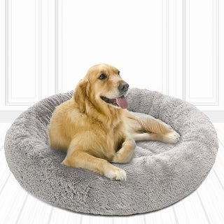 Link to Friends Forever Coco Faux Fur Self Warming Indoor Round Donut Cuddler Similar Items in Dog Beds & Blankets