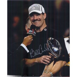 Signed Cowher Bill Pittsburgh Steelers 8x10 Photo autographed