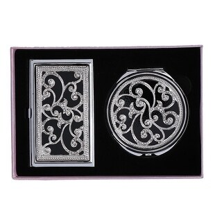 CTM® Business Card Case Compact Mirror Gift Set - One size