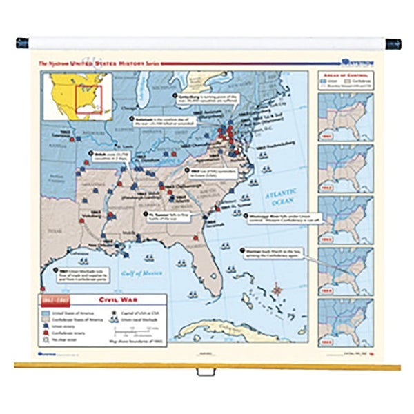Nystrom United States History Civil War to Present Maps, Set of 10