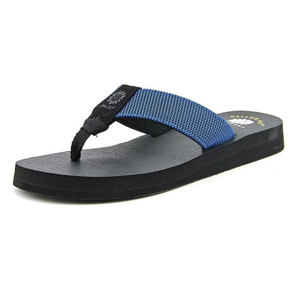 Yellow Box Jinx Women Open Toe Canvas Blue Thong Sandal