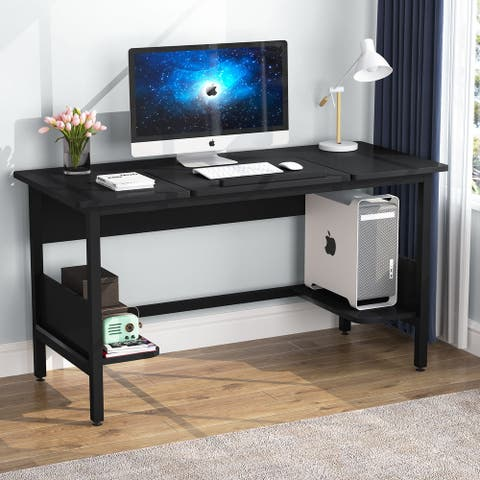 ribesigns 55 inches Computer Desk with Tiltable Drawing Board