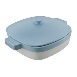 KitchenAid Blue and White 1.9 Quart Covered Ceramic Baking Dish