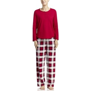 Jockey Women's Knit Top/Pant Pajama Set - Red
