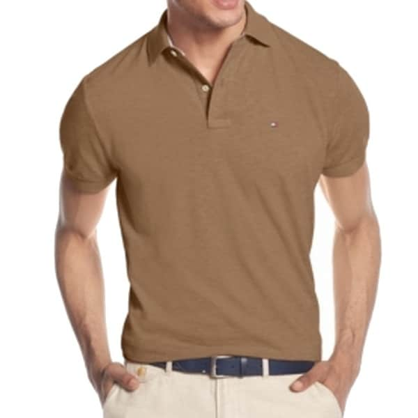 Tommy Hilfiger New Heather Brown Mens Size Xl Pique Knit Polo Shirt Free Shipping On Orders Over 45 19514140