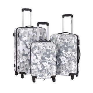 GLOBALWAY 3 Pcs Luggage Travel Set Bag ABS+PC Trolley Suitcase Wheels Coded Lock