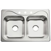 """Sterling 11402-3 Southhaven 33"""" Double Basin Drop In Stainless Steel Kitchen Sink with SilentShield® - STAINLESS STEEL"""
