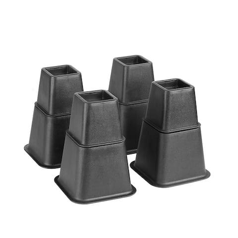 """Simplify 8 Piece Adjustable Height Bed Risers Set - 3"""", 5"""" or 8"""""""