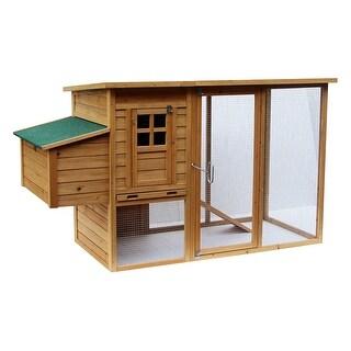 Lovupet 72'' Deluxe WoodenChicken Coop Backyard Nest Box Pet Cage Hen Hutch 1709