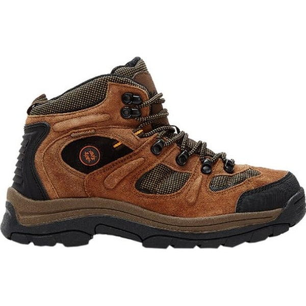 ea75a9e37c1a Shop Nevados Men s Klondike Waterproof Mid Hiking Boot Earth  Brown Black Tigerlily Orange Suede - Free Shipping Today - Overstock -  22205842