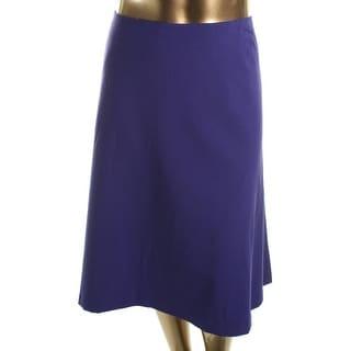 Calvin Klein Womens Plus Column Knee-Length A-Line Skirt - 20W