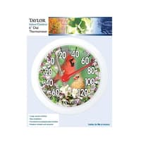 Taylor 5632 Bird Design Round Dial Thermometer, Plastic, Assorted Colors