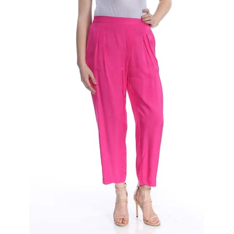 RALPH LAUREN Womens Pink Pleated Front Wear To Work Pants Size 18