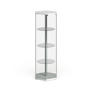 """Link to Strick & Bolton Laure Hexagonal Curio Cabinet - 24"""" x 24"""" x 63.50"""" Similar Items in As Is"""